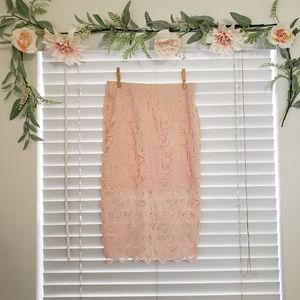 H&M - High-low Lace Skirt